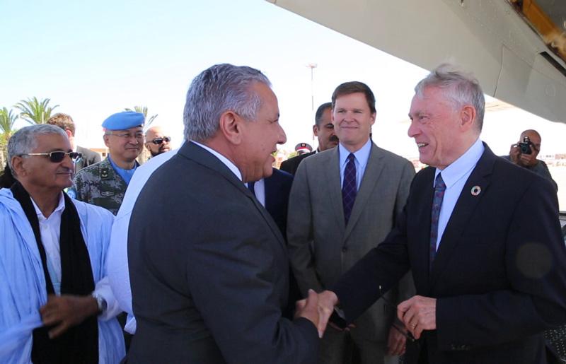 Horst Köhler à Laâyoune pour son premier déplacement officiel dans le Sahara marocain
